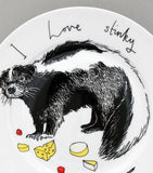 I Love Stinky Cheese Side Plate, Jimbobart - CultureLabel - 2