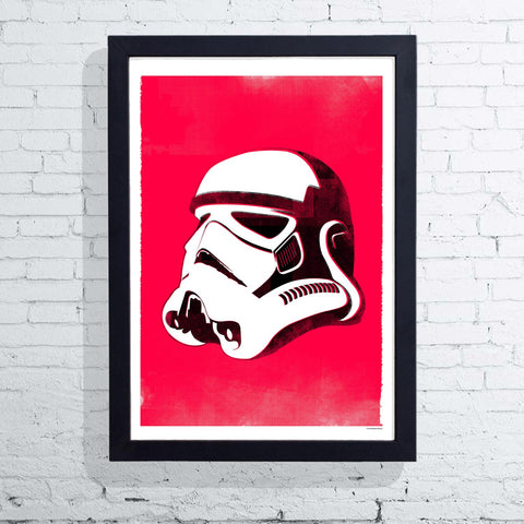 Star Wars Helmet - Stormtrooper (Framed), The Designers Nursery - CultureLabel