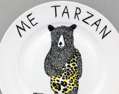 Me Tarzan, You Cake Side Plate, Jimbobart Alternate View
