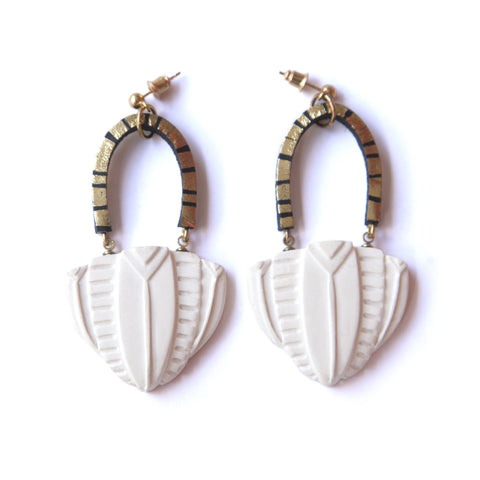 Temple Dome Earrings, Rosita Bonita - CultureLabel