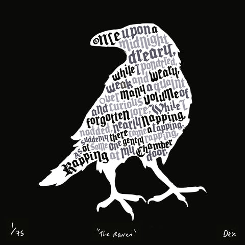 The Raven, Run For The Hills - CultureLabel - 1 (White; full image)