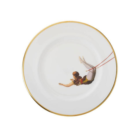 Trapeze Girl Bone China Plate, Melody Rose