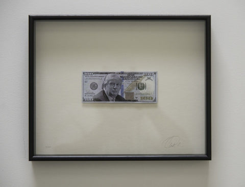 Trump Bank LLC- Framed Donald Trump $100 Bill - CultureLabel - 1