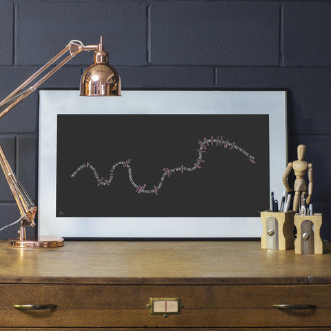 Twenty Bridges (Grey & Pink), Run For The Hills - CultureLabel - 1 (framed)