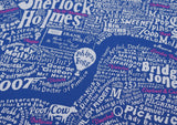 Literary London Map (Pink & White), Run For The Hills - CultureLabel - 3