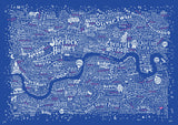 Literary London Map (Pink & White), Run For The Hills - CultureLabel