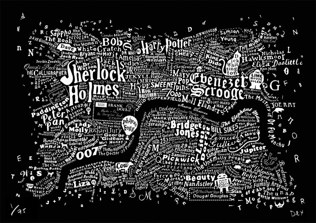 Literary Central London (Black), Run For The Hills - CultureLabel - 1 (full image)