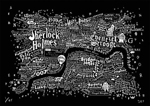 Literary Central London (Black), Run For The Hills