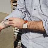 40 Edition - Rose Gold & Tan Mens Watch, Freedom To Exist - CultureLabel - 5