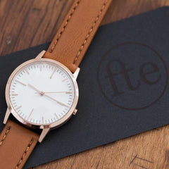 40 Edition - Rose Gold & Tan Mens Watch, Freedom To Exist Alternate View