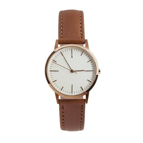 30 Edition - Rose Gold & Tan Ladies Watch, Freedom To Exist - CultureLabel - 1