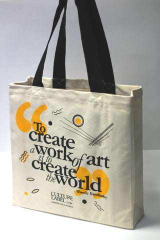 Limited Editon Kandinsky Inspired Bag For Life - (full bag view- quote) CultureLabel - 1