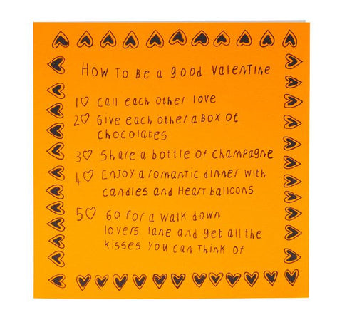 How to be a Good Valentine Card, ARTHOUSE Meath - CultureLabel - 1