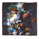 Flowers Still Life Jan Van Huysum Square Silk Scarf, National Galleries of Scotland - CultureLabel