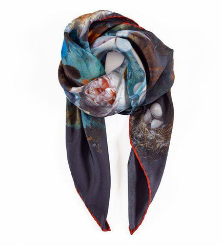 Flowers Still Life Jan Van Huysum Square Silk Scarf, National Galleries of Scotland - CultureLabel - 1