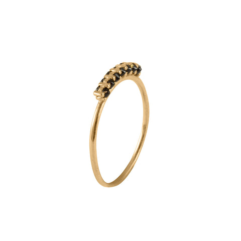 Black Spinnel Spike Ring, Lee Renée - CultureLabel - 1