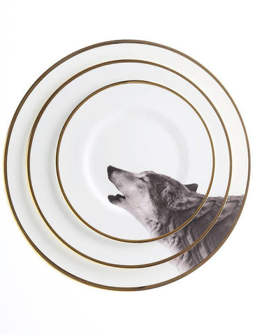 The Howling Wolf Bone China Plate, Melody Rose - CultureLabel