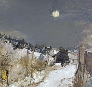 Caterline in Winter by Joan Eardley Christmas Card Pack (10 Cards), National Galleries of Scotland Alternate View