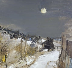 Catterline in Winter by Joan Eardley Christmas Card Pack (10 Cards), National Galleries of Scotland Alternate View