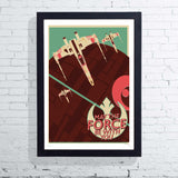 Offset X-Wing (Framed), The Designers Nursery - CultureLabel