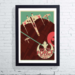 Offset X-Wing (Framed), The Designers Nursery