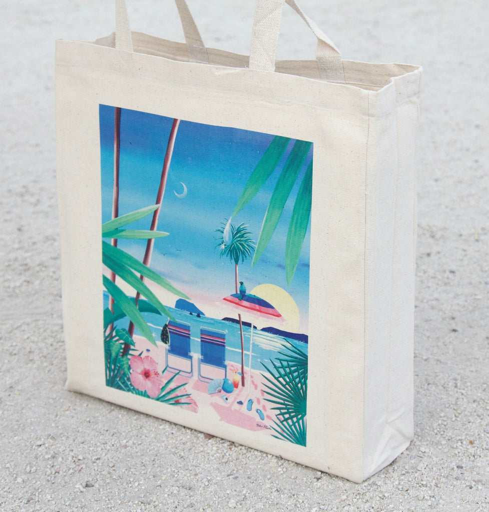 California Dreaming Tote Bag, (side view- left tilt) Yoko Honda - CultureLabel - 1