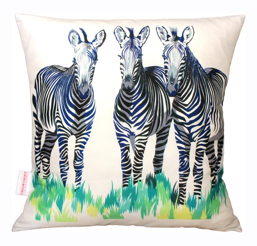 Zebras Cushion, Chloe Croft - CultureLabel - 1 (cushion full view)