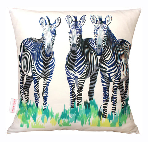 Zebras Cushion, Chloe Croft