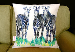 Zebras Cushion, Chloe Croft Alternate View