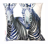 Zebra Portraits Cushion, Chloe Croft - CultureLabel - 1 (full view of cushion)