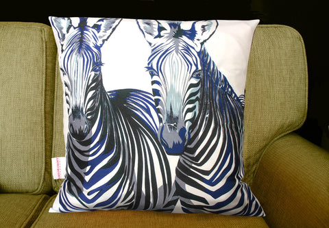 Zebra Portraits Cushion, Chloe Croft Alternate View
