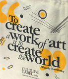 Limited Editon Kandinsky Inspired Bag For Life - (close up of quote) CultureLabel - 3