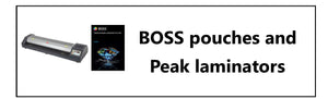 boss laminating pouches and peak laminators