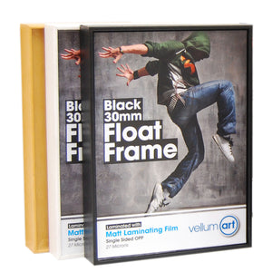 Float Frame Packs 30mm frame - 5mm Foam Board - mountingsubstrates.com