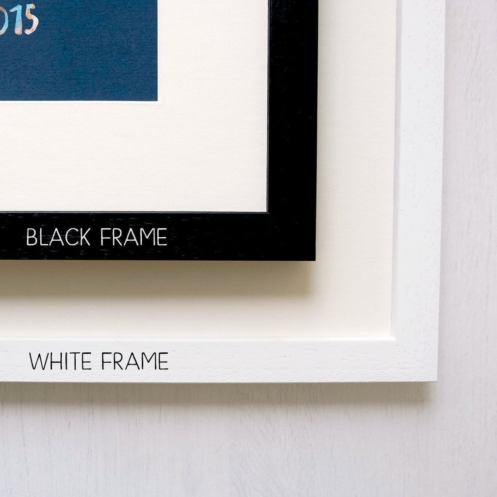 Pack of 10 frames in Black, White or Natural Wood - A4 opening with ...