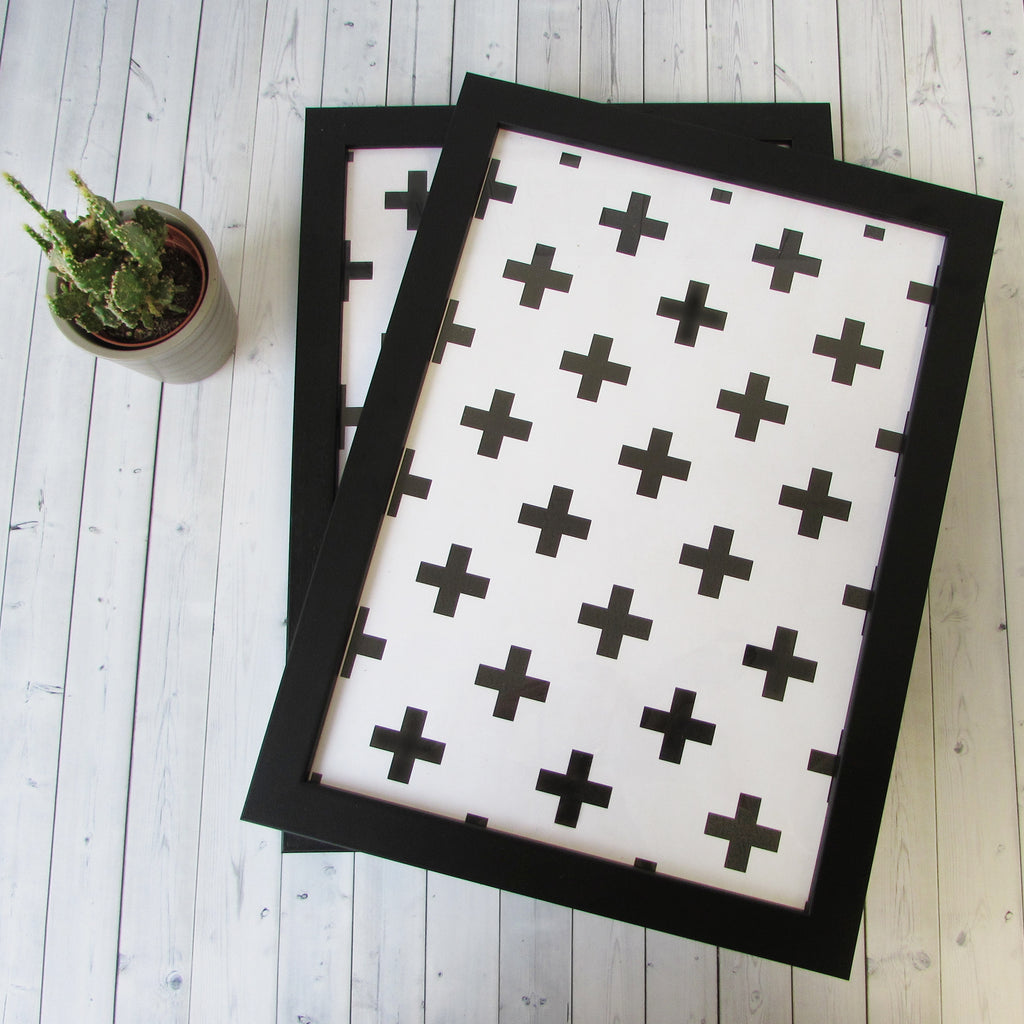 Pack Of 10 Frames In Black White Or Natural Wood A3