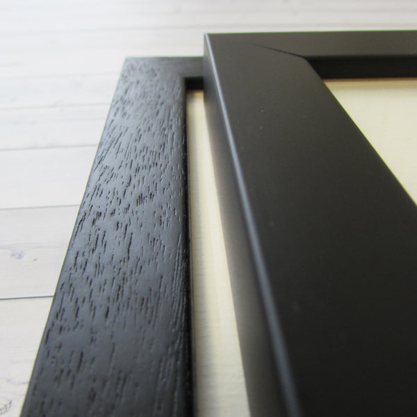 Pack of 10 frames in Black, White or Natural Wood - A4 opening with mount - mountingsubstrates.com