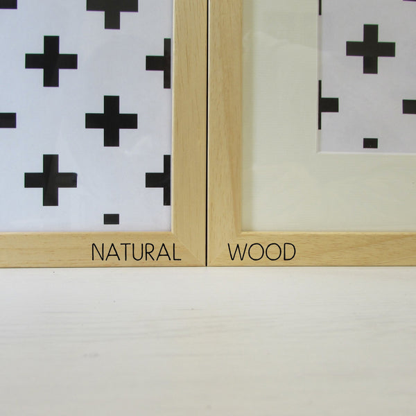 Pack of 10 frames in Black, White or Natural Wood - A3 opening with mount - mountingsubstrates.com