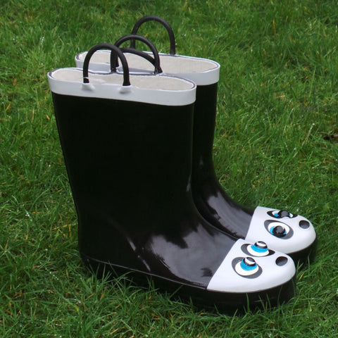 Childrens Wellingtons Mud Rocks Panda
