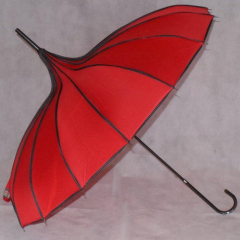 Ladies Umbrella Pagoda Princess Red