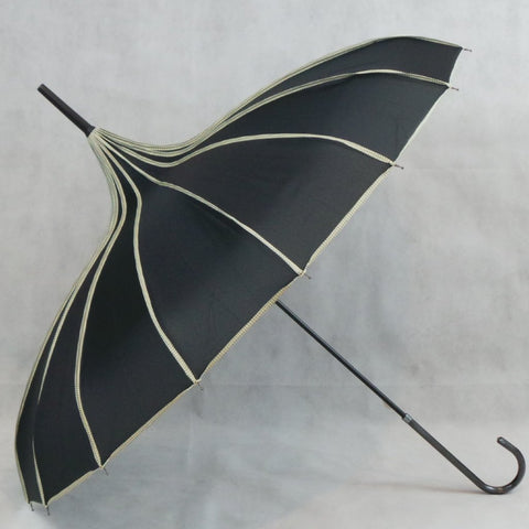Ladies Umbrella Pagoda Princess Black SOAKE