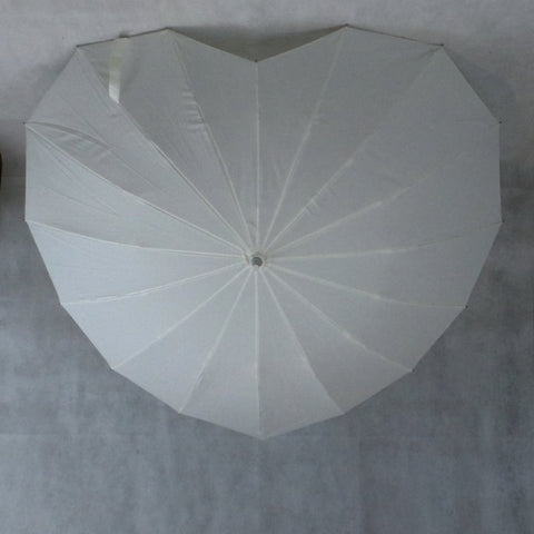 Ladies Umbrella Heart Shape Ivory