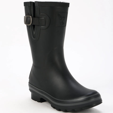 Evercreatures Ladies Short Wellies All Black