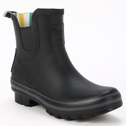 Evercreatures Ladies Ankle Wellies All Black