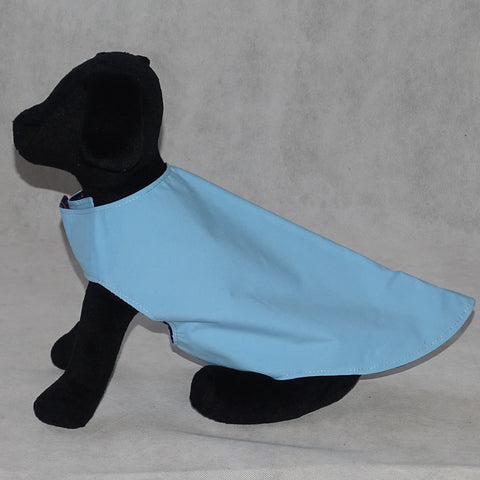 Dog Reversible Coat Blue and Millefiore Print