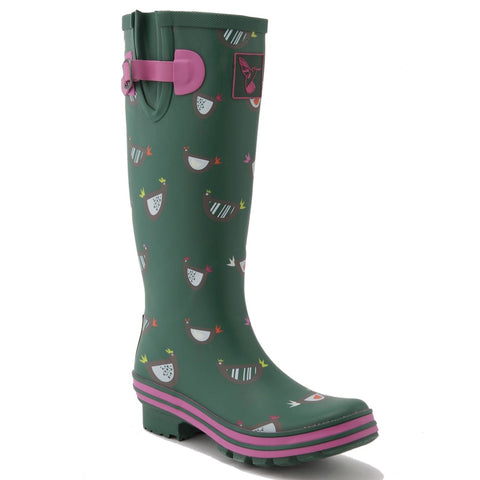 Evercreatures Ladies Wellington Chicken Print