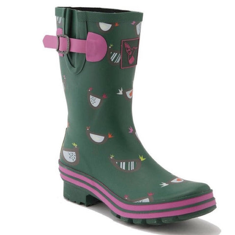 Evercreatures Ladies Short Wellies Chicken