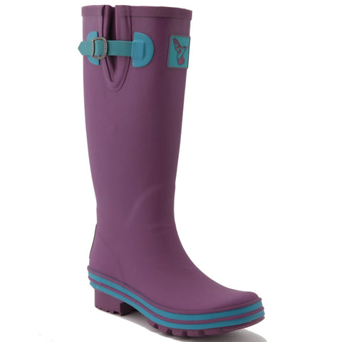 Evercreatures Ladies Wellington Eggplant