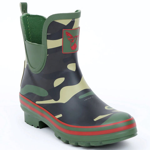 Evercreatures Ladies Ankle Wellies Camouflage