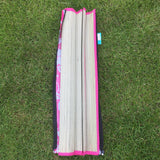 Roll Up Straw Beach Mat With Shoulder Strap Pink